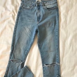 Forever 21 skinny high waisted jeans